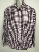 MENS MARKS & SPENCER PURPLE BUTTON UP LONG SLEEVE SMART FORMAL SHIRT SIZE LARGE