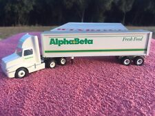 "WINROSS Vintage ""ALPHA-BETA"" Grocery DIE CAST Tractor Trailer Semi Truck Toy"