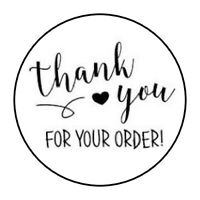 """THANK YOU FOR YOUR ORDER! STICKER LABEL ENVELOPE SEAL PARTY 1.2"""" OR 1.5"""" ROUND"""