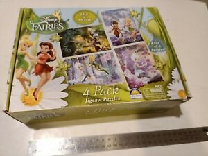 DISNEY Fairies Jigsaw Puzzle 4 Pack preloved Euc Tinkerbell faerie wings toy