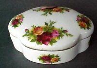 Old Country Rose- bone china- Royal Albert -England-pill/trinket box
