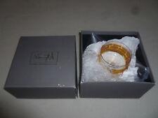 New In Box Michael Wainwright Truro Gold Glass Small Bowl 850616 Nib Slovakia >>