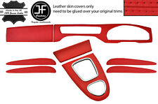 RED REAL LEATHER 8 PIECE INTERIOR KIT COVERS FOR JAGUAR S-TYPE 1999-2008
