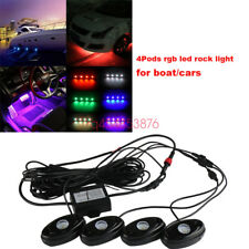 Jeep Truck Multi-Color Changing CREE LED RGB SMD Rock Light Bluetooth Set of 4