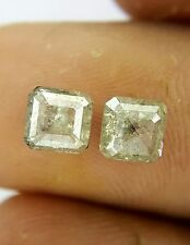 Big 1.39TCW Green Cushion Step cut Natural Diamond Earring Best Mother Day Gift