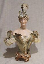 "Ernst Wahliss Turn Wien 12"" Bust of a Victorian Woman"