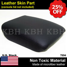 Leather Armrest Center Console Lid Cover Fits for Honda Pilot 2003-2008 Black