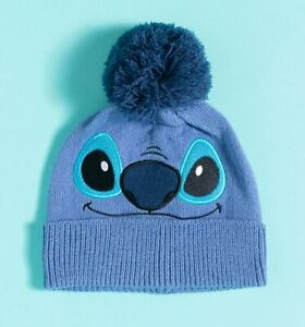 Official Blue Lilo & Stitch Knitted Stitch Disney Bobble Hat