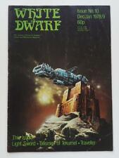 RARE ORIGINAL 1978/79 ISSUE #10 'WHITE DWARF' FANTASY GAMES MAGAZINE - EXCELLENT