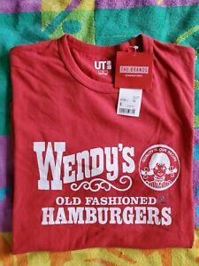 "NEW UNIQLO® × ""WENDY'S OLD FASHIONED HAMBURGERS""  T-Shirt SZ S RARE"