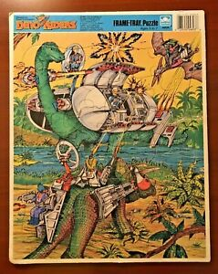 DINO RIDERS Frame Tray Puzzle Golden 4803A Tyco Vintage 1988 Free Shipping