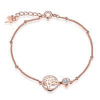 Damen 925 Sterling Silber Lebensbaum Armband Anhänger Zirkonia Armreif Armkette