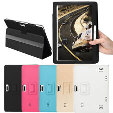 Universal Folio Leather Stand Cover Case For 10 10.1 Inch Android Tablet PC GB-A
