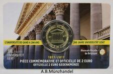 "Coincard Belgien 2017 2 Euro ""200 Jahre Universität Gent"" - wallonisch"