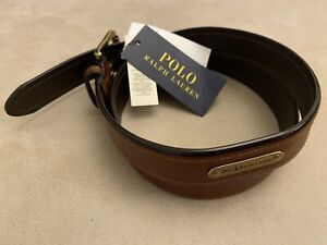 Polo ralph Lauren Mens Brown Leather Belt