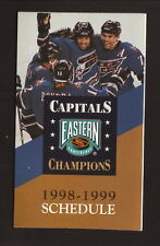Washington Capitals & Wizards--Oates--Bondra--1997-98 Pocket Schedule--Budweiser