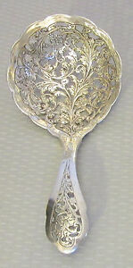 signed Made in Holland 830 SILVER PIERCED LADLE Dutch chased serving spoon scoop