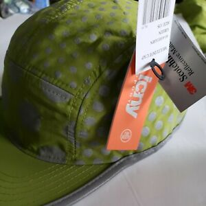 Reflective Running or Cycling hat - DOTS and DOTS -  icny NWT Green one size