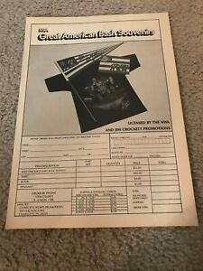1988 NWA GREAT AMERICAN BASH Shirt Program Print Ad FOUR HORSEMAN ROAD WARRIORS