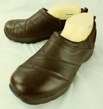L.L Bean Womens Loafers Chelsea US 9.5 W Brown Leather Slip On Walking 5740