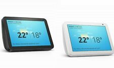 Echo Show 8 HD smart display with Alexa Black Charcoal or White Sandstone Fabric
