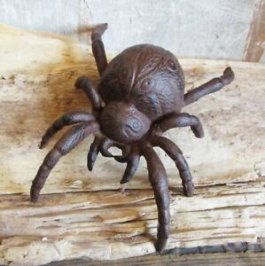 XXL SPINNE L=19,5 cm Gusseisen Tarantel Gartendeko Spider Gartenteich Spinne NEU