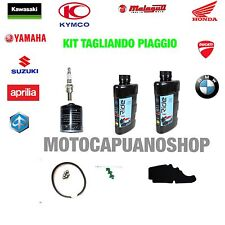 REPLACEMENT KIT COMPLETE + OIL FILTER AGIP ENI i-RIDE 5W40 PIAGGIO BEVERLY 500