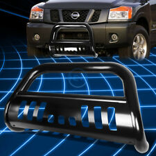 Black SS Front Bumper Bull Bar Grille Guard for 2004-2015 Nissan Titan/Armada