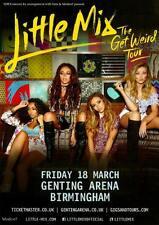 Little Mix Single Sided A5 Colour 2016 Birmingham Get Weird Tour Date Flyer