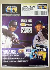 1999 Duracell battery ad ~  KEN GRIFFEY JR  ~  ROGER CLEMENS ~  Mariners Yankees