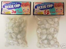 2 BAGS OF DIXIE CUP ICE-CREAM PROMO CATSEYE MARBLES