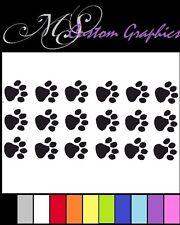 18 x piccoli Paw Stampe Adesivo Pack Auto Decalcomania Adesivo Vinile, A5 Fogli, gatto, un cane