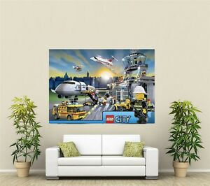 Lego City Airport Giant 1 Piece  Wall Art Poster VG143