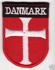 DANMARK Flag  Country Patch Shield Style Denmark