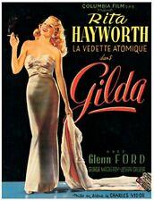 "Gilda 1946 Noir Movie Vintage Poster Printed in France Re Issued 28"" x 39"" LG"