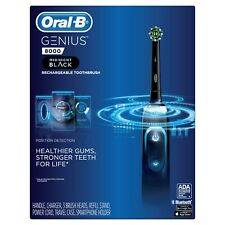 Brand New Sealed Oral-B Genius 8000 Rechargeable Toothbrush Midnight Black
