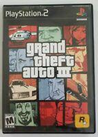 Grand Theft Auto III PS2 Game 2001 Rockstar Games No Manual Playstation 2