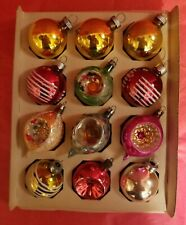 Shiny Brite Box of assorted Vintage Christmas Ornaments