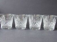 WEBB CORBETT SET OF FOUR WHISKY GLASSES - WARWICK ? CUT (Ref5033)
