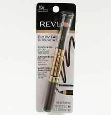 REVLON COLORSTAY BROW FANTASY PENCIL & GEL SET BROWS MAKEUP COSMET #106 DRK BRWN