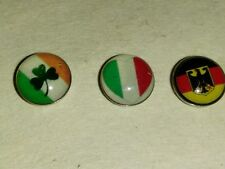 "1pcs Irish flag Charm living locket floating glass  ""like origami owl pandora"""