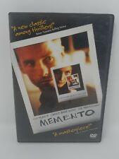 Memento (DVD, 2001) Movie Good Condition