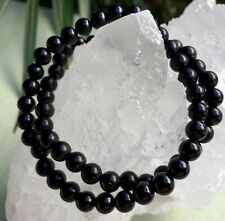 6 mm Shungite Bracelet Elite Shungite Bead Bracelet Stretchy Anti Radiation Heal