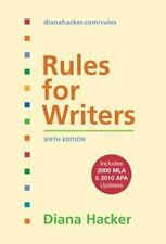 Rules for Writers with Tabs with 2009 MLA and 2010 APA Updates by Diana...