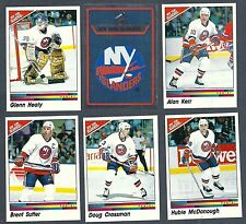 1990-91 Panini NHL New York Islanders Team Set, Trottier, LaFontaine, etc.(15)