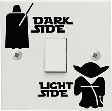 Light and Dark Side STAR WARS DESIGN Interrupteur de lumière enfants enfants chambre autocollant decal
