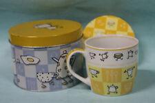 Coffee Mug  w/ Coaster in Metal Tin w/ Box NOS