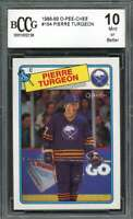 1988-89 o-pee-chee #194 PIERRE TURGEON sabres rookie card (CENTERED) BGS BCCG 10