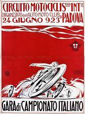 Exposition moto sport course champion Padoue en Italie vintage poster 857pylv