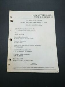 1975 USN-Air Force Helicopter Rescue Hoist System 202pg Maintenance Manual